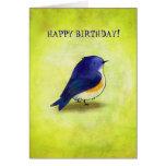 Blue Birdie Greeting Card(customizable)