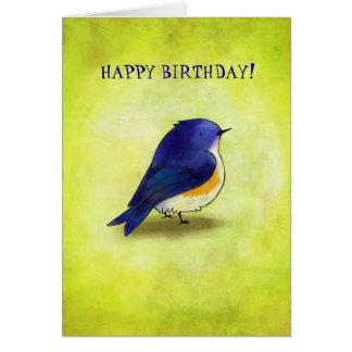 Blue Birdie Greeting Card(customizable) Card
