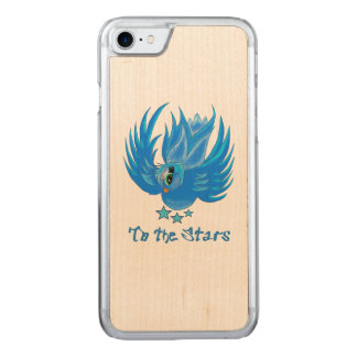 Blue Birdie Maple Phone Case