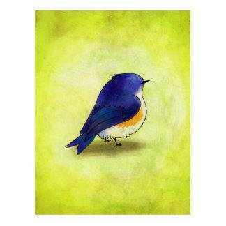 Blue Birdie Postcard