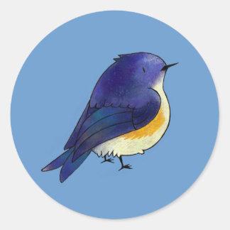 Blue Birdie Small Stickers