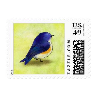 Blue Birdie Stamp
