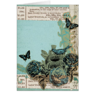 Blue Birds and Roses, Alles Gute Zum Geburtstag Card