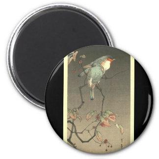 Blue Birds at Night by Seitei Watanabe 1851- 1918 2 Inch Round Magnet