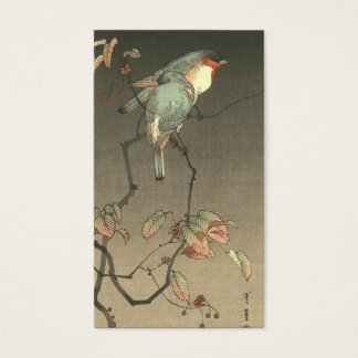 Blue Birds at Night by Seitei Watanabe 1851- 1918 Business Card