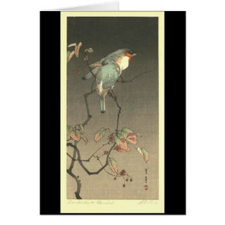 Blue Birds at Night by Seitei Watanabe 1851- 1918 Cards