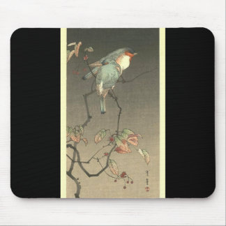 Blue Birds at Night by Seitei Watanabe 1851- 1918 Mouse Pad