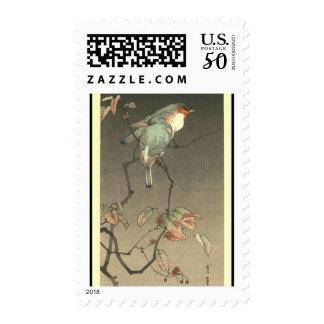 Blue Birds at Night by Seitei Watanabe 1851- 1918 Postage
