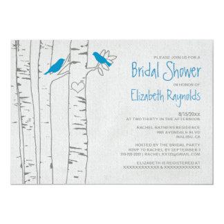 Blue Birds Bridal Shower Invitations