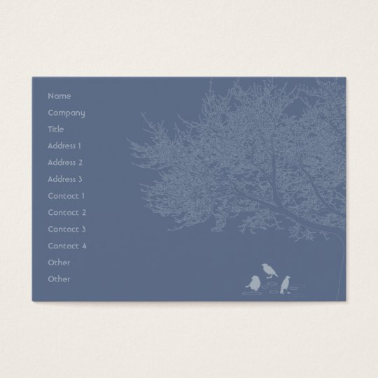 Blue Birds - Chubby Business Card