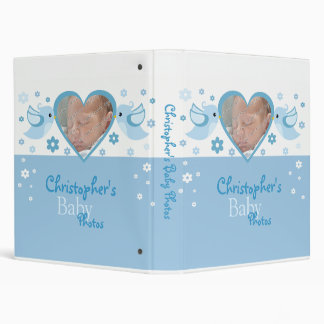 Blue Birds & Flowers Photo Baby Boy Album 3 Ring Binder