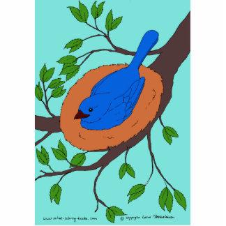 Blue Bird's Nest Statuette