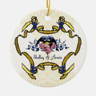 Blue Birds of Happiness Ceramic Ornament