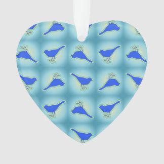 Blue birds pattern