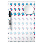 Blue Birdy Bird and Pencil Pattern Dry-Erase Boards