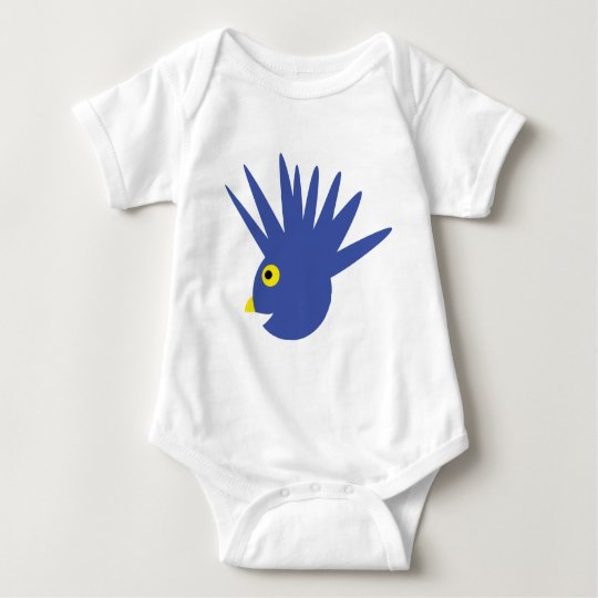 blue birdy icon baby bodysuit
