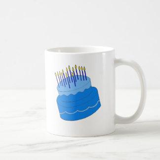 Blue Birthday Boy Cake Design Coffee Mug