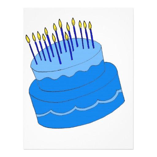 Birthday Cake Design Template : Blue Birthday Boy Cake Design Letterhead Template Zazzle