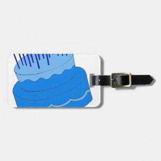 Blue Birthday Boy Cake Design Bag Tags