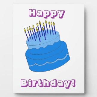 Blue Birthday Boy Cake Design Plaque