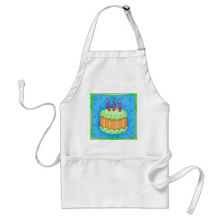 Blue Birthday Cake Apron