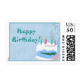 Blue Birthday Cake Postage
