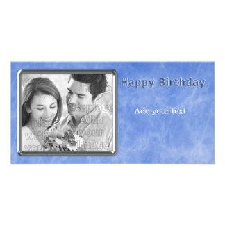 Blue Birthday Design Card