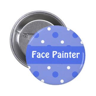 Blue Birthday 'Face Painter' Identification Pinback Button