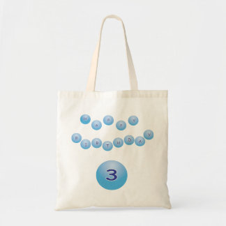 Blue Birthday for Boy Age 3 Tote Bag