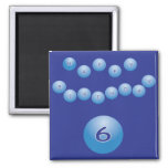 Blue Birthday for Boy Age 6 Fridge Magnets