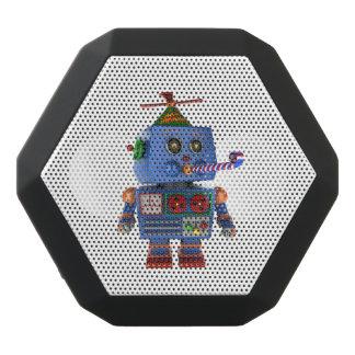 Blue birthday party toy robot black bluetooth speaker
