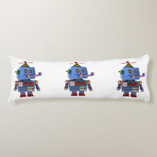Blue birthday party toy robot body pillow