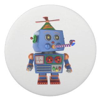 Blue birthday party toy robot eraser