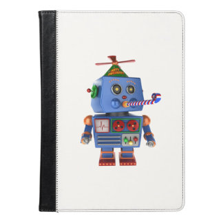 Blue birthday party toy robot iPad air case