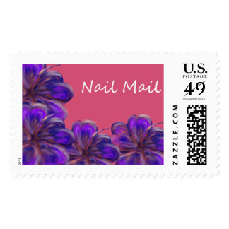 Blue Biscus Nail Mail Postage