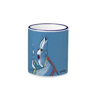 Blue Bishop with blue rim Ringer Mug