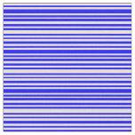 [ Thumbnail: Blue & Bisque Colored Stripes/Lines Pattern Fabric ]