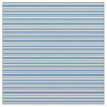 [ Thumbnail: Blue & Bisque Colored Stripes Pattern Fabric ]