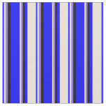 [ Thumbnail: Blue, Bisque, Purple & Black Colored Lines Fabric ]
