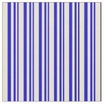 [ Thumbnail: Blue & Bisque Stripes/Lines Pattern Fabric ]