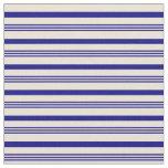 [ Thumbnail: Blue & Bisque Stripes Pattern Fabric ]