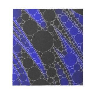 Blue Black Abstract Pattern Notepad