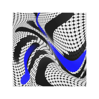 Blue Black Abstract Weave Canvas Print