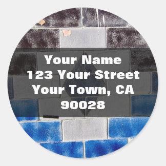 blue black address labels