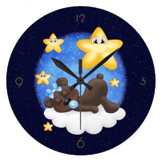 Blue Black Bear Clocks