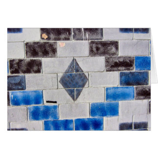 blue black bricks card