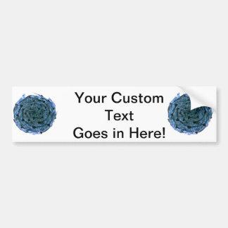 blue black cabbage vegetable image bumper sticker