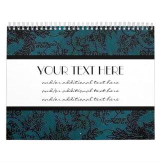 Blue & Black Calendar