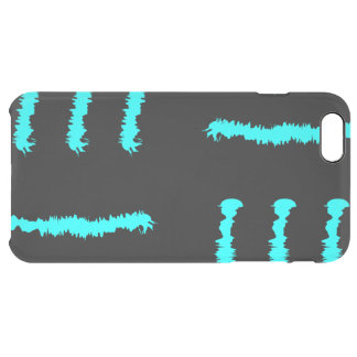 Blue & Black Claw marks Clear iPhone 6 Plus Case