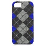 Blue & Black Comfy Argyle Look iPhone 5 Case